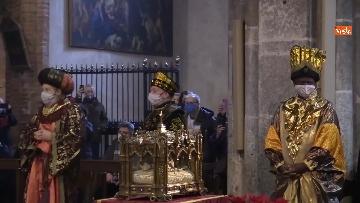 6 - Corteo dei magi a Milano, nella basilica di sant'Eustorgio la celebrazione in forma ridotta