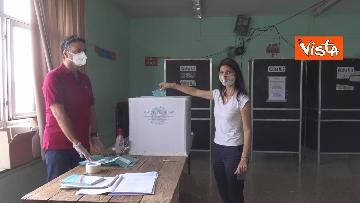 5 - Referendum, il voto della sindaca di Roma Virginia Raggi. Le foto