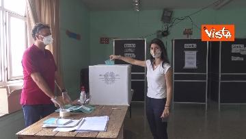6 - Referendum, il voto della sindaca di Roma Virginia Raggi. Le foto