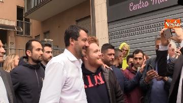 1 - Il ministro Salvini all'inaugurazione della sede della Lega a Bergamo