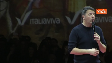 8 - Renzi chiude l'assemblea di Italia Viva