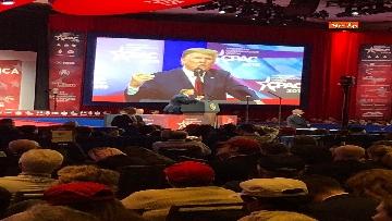 7 - Le facce di Trump durante il discorso al Cpac 2019