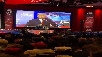 6 - Le facce di Trump durante il discorso al Cpac 2019
