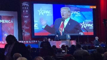 5 - Le facce di Trump durante il discorso al Cpac 2019