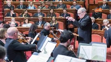 1 - Ennio Morricone premiato in Senato dalla presidente Casellati