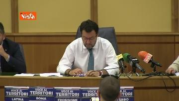 4 - Salvini in conferenza stampa alla Regione Lazio, immagini