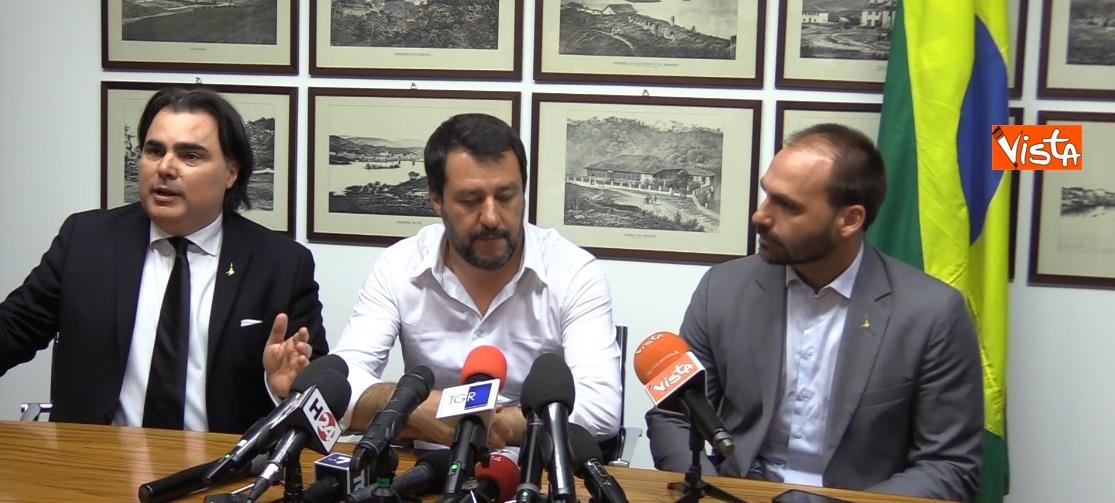 Salvini e E. Bolsonaro
