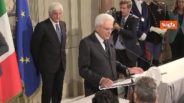 2 - La dichiarazione di Mattarella al termine delle Consultazioni