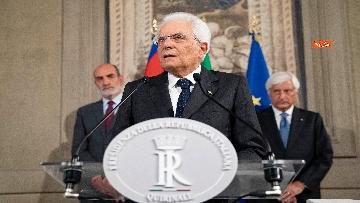 4 - La dichiarazione di Mattarella al termine delle Consultazioni