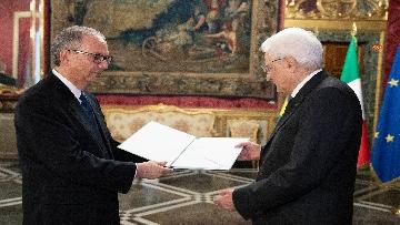 3 - Mattarella incontra i nuovi ambasciatori per la consegna delle lettere di credenziali