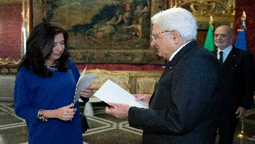 5 - Mattarella incontra i nuovi ambasciatori per la consegna delle lettere di credenziali