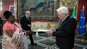 2 - Mattarella incontra i nuovi ambasciatori per la consegna delle lettere di credenziali