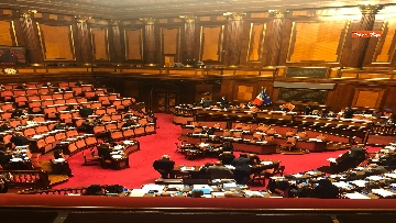 9 - Il Senato riunito per il voto sul dl sicurezza