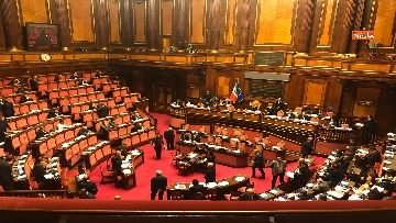 5 - Il Senato riunito per il voto sul dl sicurezza