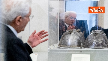 3 - Mattarella visita la mostra 'L'arte di salvere l'arte'