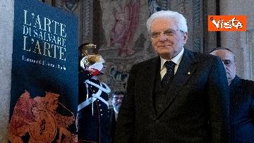 2 - Mattarella visita la mostra 'L'arte di salvere l'arte'