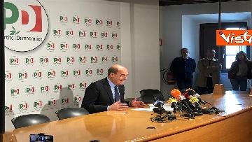 5 - La conferenza stampa del segretario PD Nicola Zingaretti dopo le elezioni europee