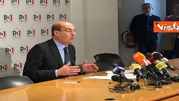 4 - La conferenza stampa del segretario PD Nicola Zingaretti dopo le elezioni europee