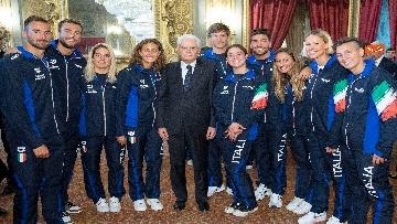 6 - Mattarella incontra gli atleti azzurri del nuoto