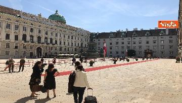 4 - Il Presidente della Repubblica Mattarella alla Hofburg di Vienna