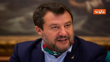 6 - Salvini in conferenza stampa alla Camera dei Deputati
