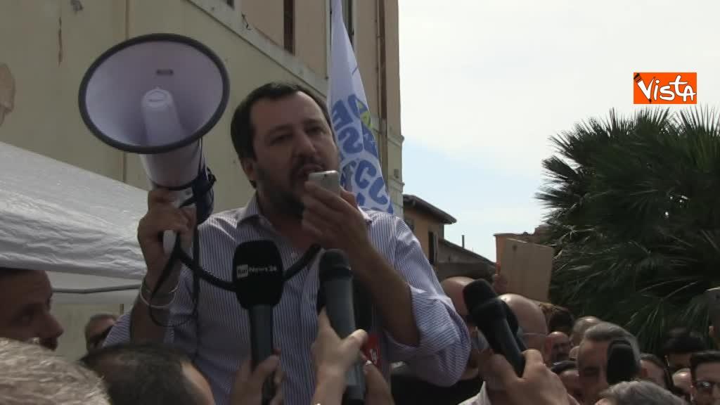 Matteo Salvini a Fiumicino