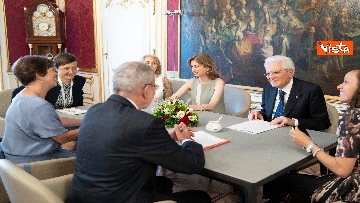 1 - Mattarella in visita di Stato in Austria