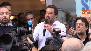 3 - Il ministro Salvini all'inaugurazione della sede della Lega a Bergamo