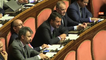 3 - Bagarre in aula durante l'intervento di Salvini