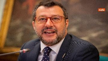 7 - Salvini in conferenza stampa alla Camera dei Deputati