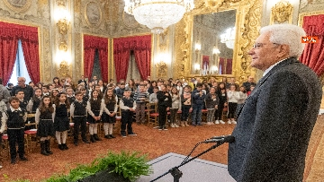 1 - Mattarella incontra un gruppo di alunni delle scuole primarie
