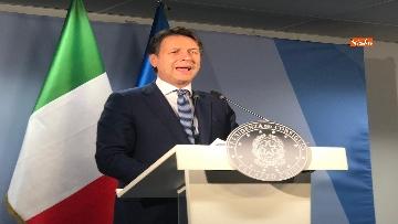 3 - La conferenza stampa di Giuseppe Conte al termine del Consiglio Europeo