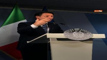 5 - La conferenza stampa di Giuseppe Conte al termine del Consiglio Europeo