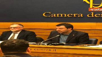 8 - La conferenza di Salvini alla Camera dei Deputati