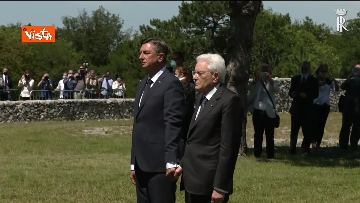 5 - Mattarella e Pahor al sacrario della Foiba di Basovizza
