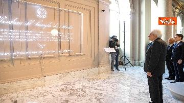 5 - Mattarella e Conte all'inaugurazione della sede unitaria dell'Intelligence