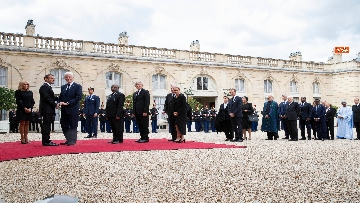 2 - Chirac, Mattarella alla messa solenne a Parigi
