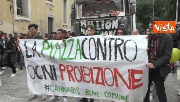 14 - Million marijuana march, il corteo per la legalizzazione della cannabis per le strade di Roma
