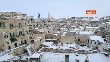 5 - 04-01-19 La citta di Matera ricoperta di neve