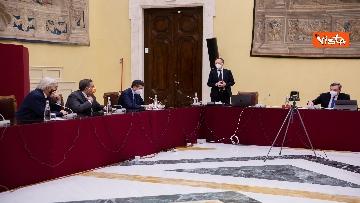 3 - Consultazioni, Draghi incontra i rappresentant di alleanza di Centro