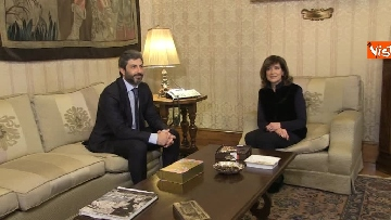 4 - Primo incontro ufficiale tra Fico e Casellati, i Presidenti al Senato