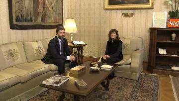 2 - Primo incontro ufficiale tra Fico e Casellati, i Presidenti al Senato