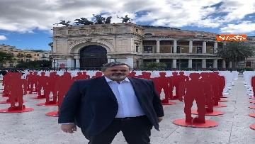 5 - Primo Maggio, le 1133 sagome dell'Ugl a Palermo per ricordare i morti sul lavoro