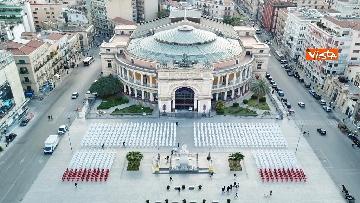2 - Primo Maggio, le 1133 sagome dell'Ugl a Palermo per ricordare i morti sul lavoro