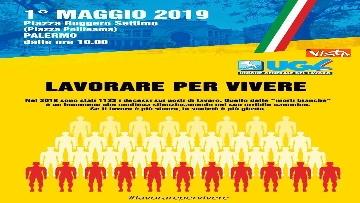 1 - Primo Maggio, le 1133 sagome dell'Ugl a Palermo per ricordare i morti sul lavoro