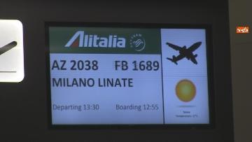 """7 - Da Fiumicino i voli sperimentali Roma-Milano """"Covid free"""" , test obbligatorio per imbarco. Le foto"""