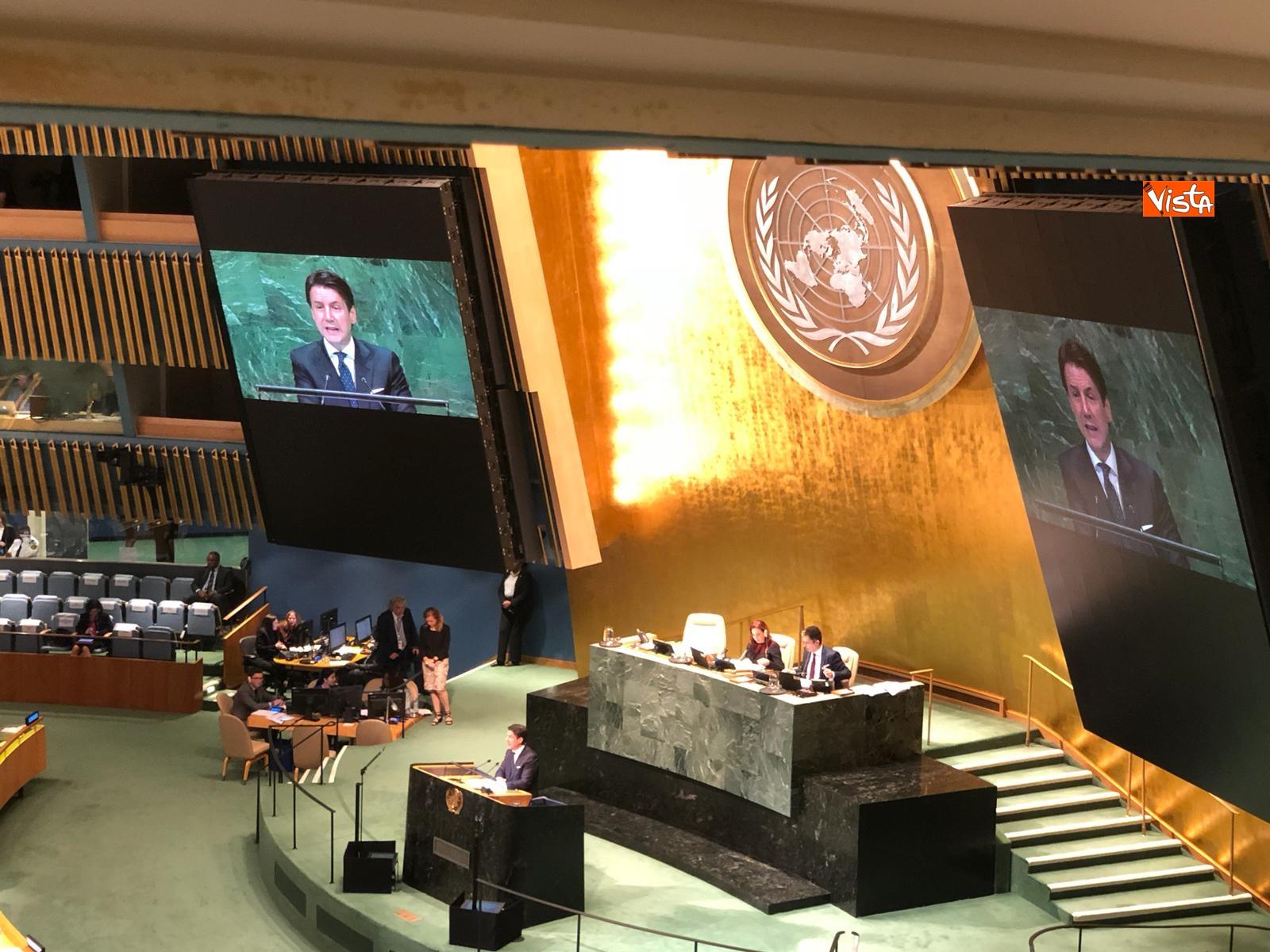 Il premier Conte interviene all'Assemblea Generale delle Nazioni Unite_13