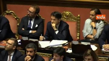 8 - 10-09-19 Governo Conte chide la fiducia al Senato, vari momenti in Aula