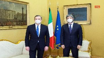 1 - Draghi e l'incontro con il presidente Fico a Montecitorio