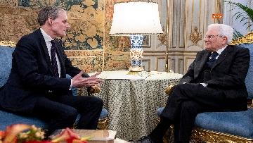 8 - Mattarella incontra l'ambasciatore francese Masset al Quirinale